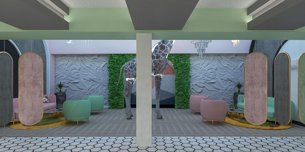 Apartment hotel lobby design - Budapest