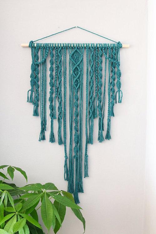 Spiral Teal Wall Hanging