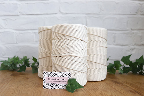 Macrame Off-white Rope, 4mm, 4ply, 200m