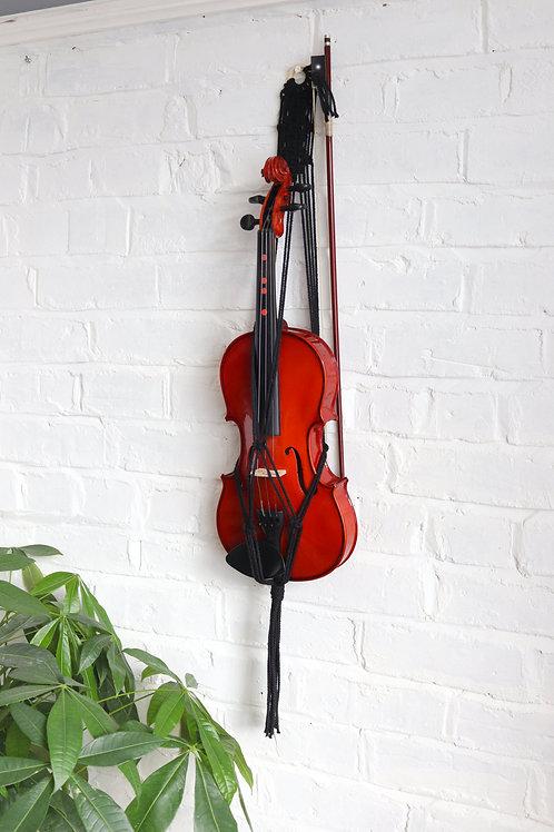 Macrame Patterned Violin Hanger