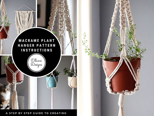 DIY Macrame Small Plant Hanger Kit