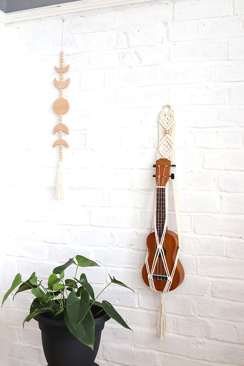 macrame ukulele strap mount holder for the wall in the uk