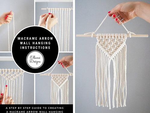 DIY Arrow Small Macrame Wall Hanging Kit