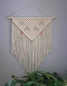 'APHRODITE' WHITE WALL HANGING WITH COPPER BEADS