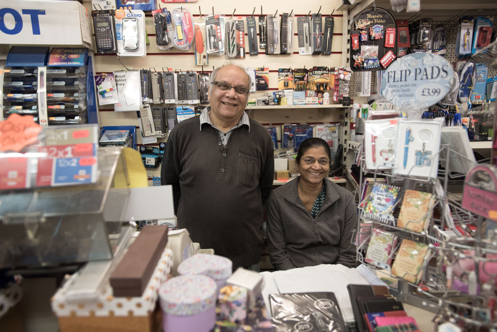 Mr. and Mrs. Patel have been running Stationary Box since 1994. They have been in the stationary and news retail industry since the '60s. Mr. Patel says he does what he loves, and it's not for the money only. Online competition is making it increasingly difficult to stay in profit.
