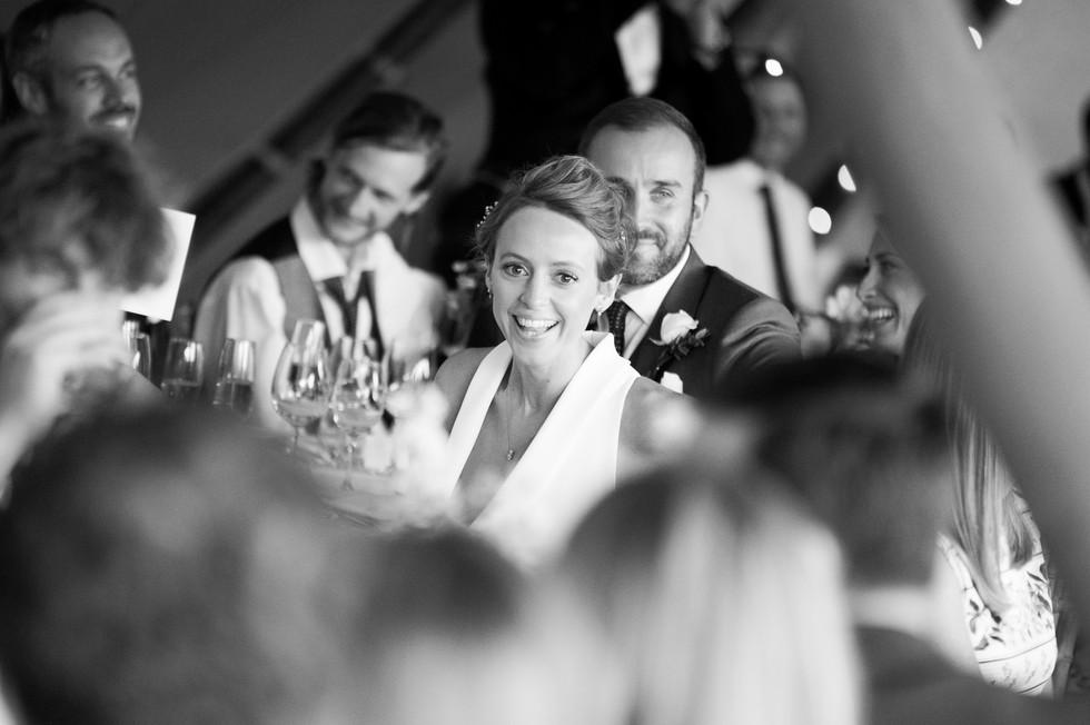 Bride during reception