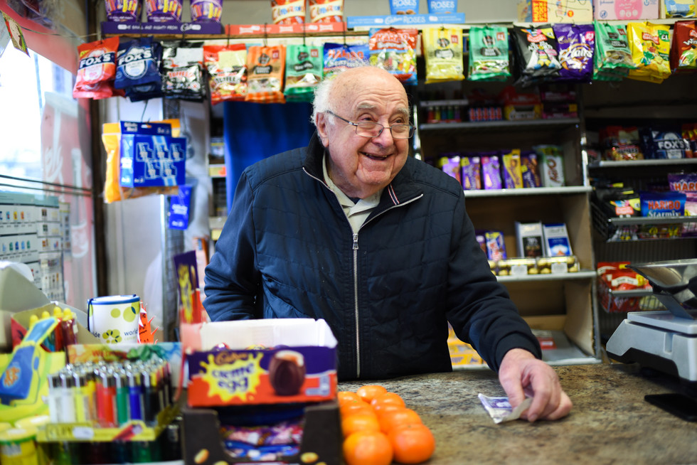 Andy, 86, has been been running his greengrocers shop with his son-in-law Sozos, since 1972.