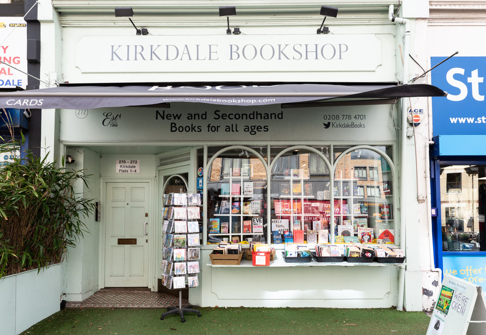 Kirkdale Books shopfront