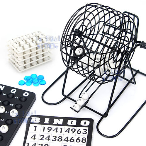 Bingo Game Set Machine Rotary With Wire Metal Cage