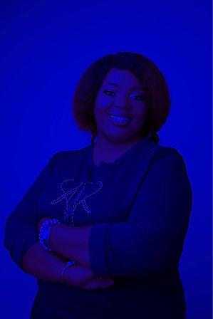 Blue Black African Nigerian Woman in Native Atire