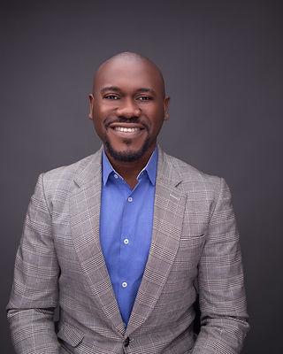 Mature African Man. Elegant Smile. Nigerian Man Smile