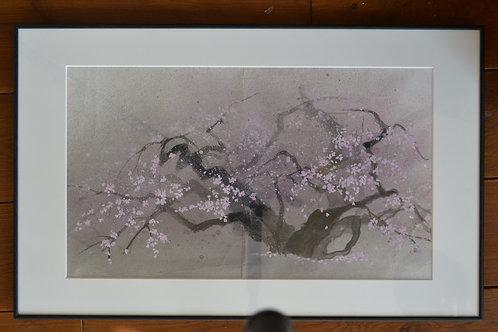 4.「左近の桜(墨)」