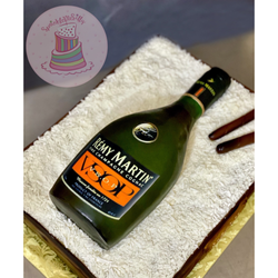 Remy Martin Champagne Bottle Cake