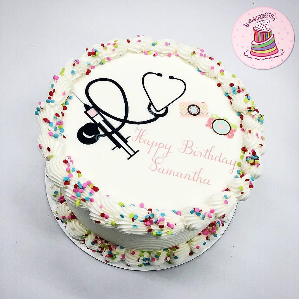 Happy Birthday Nurse Cake Images