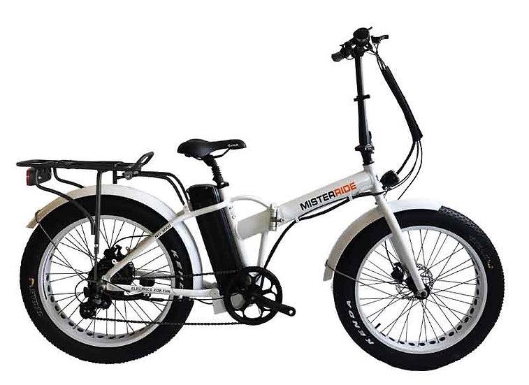 """Misterride Klapp E-Bike Fat Mod: 9000 weiss sportive 24"""""""