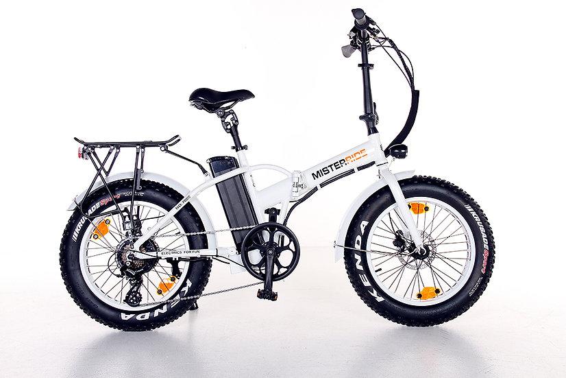 "Misterride Klapp E-Bike Fat Mod: 7000 weiss glanz sportive 20"""