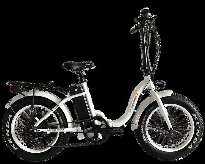 Misterride Klapp E-Bike Fat Mod: 6000 weiss/glanz Tiefeinstieg