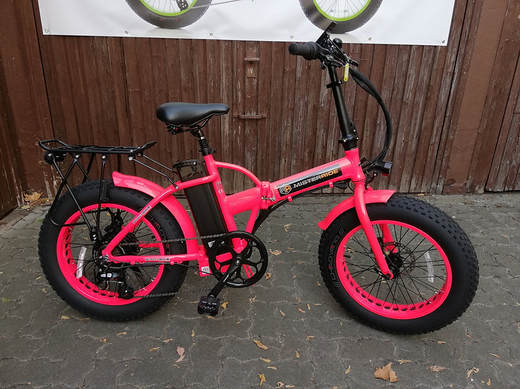 """Misterride: Bad 20"""" pink 12km + Gepäckträger"""