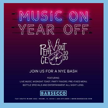Barsecco New Years Eve Event 2020 2021