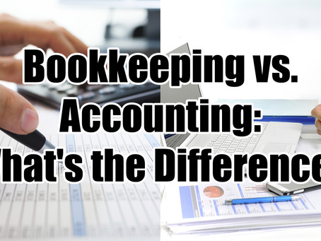 Distinction between Accounting and Bookkeeping