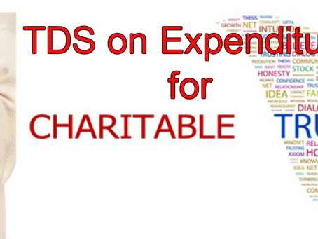 TDS on Expenditure for Charitable Trust