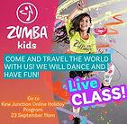 Zumba Kids workshop Kew Juction School Holidays workshop online Melbourne