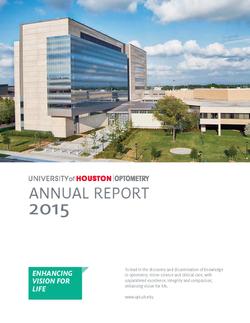 University of Houston Annual Report Optometry
