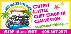 Salt Water Gift Shop Storefront Sign
