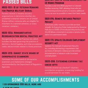Rep. Duran 2020 Legislative Session Overview
