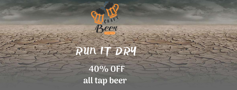 40% OFF All Tap Beer