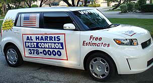 Al Harris Pest Control Car