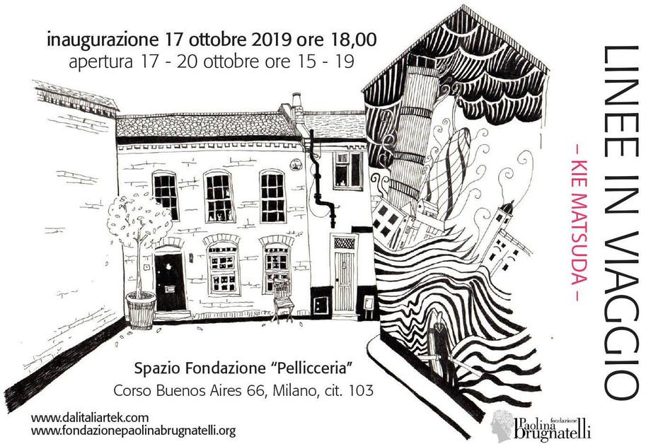 """LINEE IN VIAGGIO / Spazio Fondazione """"Pellicceria""""/ 17-20 ottobre 2019"""