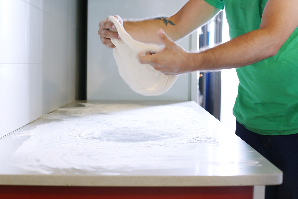 Preparing Pizza Dough