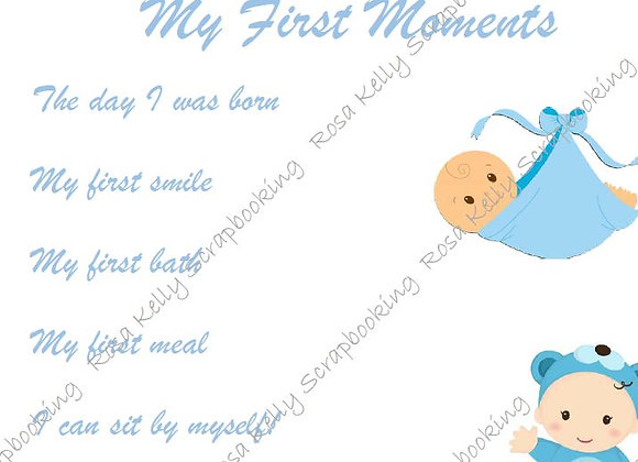 My First Moments - Boy