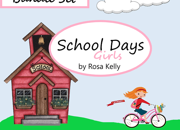 School Days Girl Paper Collection Bundle