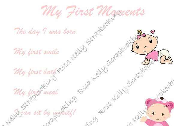 My First Moments - Girl