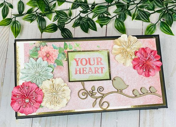 Flowers Slim Mini Album Cutting Guide