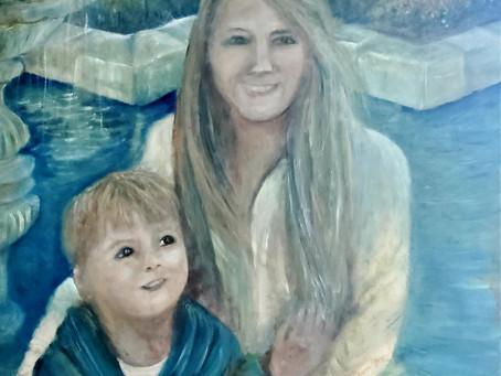Marsha Merington and Son Baptism