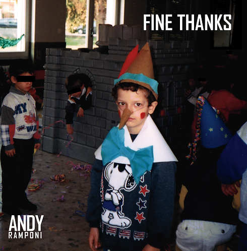 """Andy Ramponi """"Fine Thanks"""" CD - 2021 (PP017CD)"""