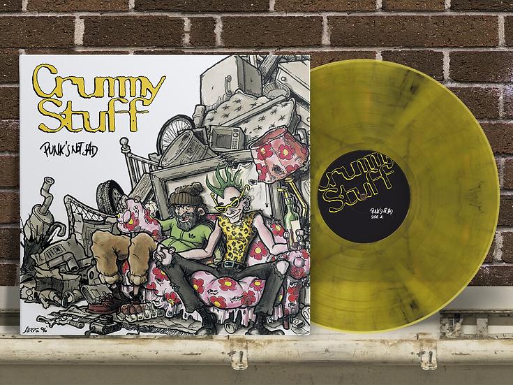 "Crummy Stuff - Punk's Not Sad - LP 12"" Yellow Transparent Vinyl"