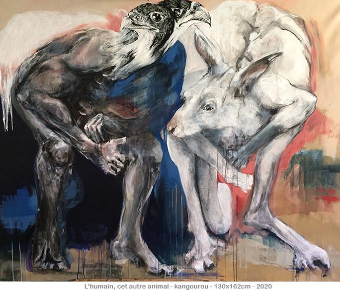 L'humain, cet autre animal - kangourou - ©2020danielle burgart
