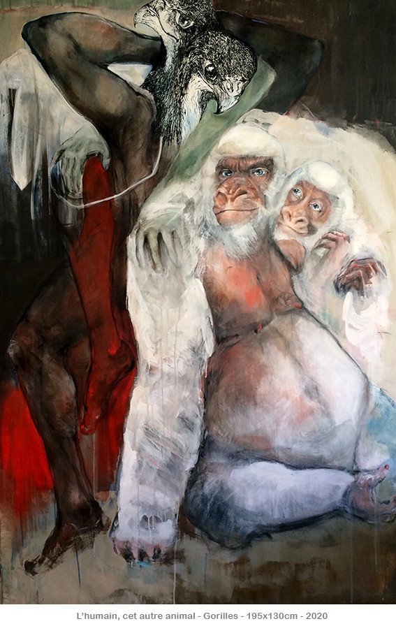 L'humain, cet autre animal - Gorilles - ©2020danielle burgart