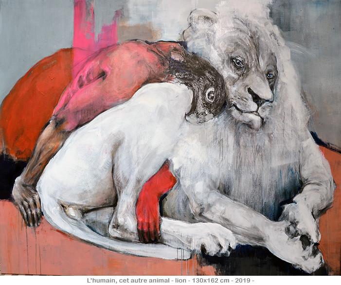 L'humain, cet autre animal - Lion - ©2020danielle burgart
