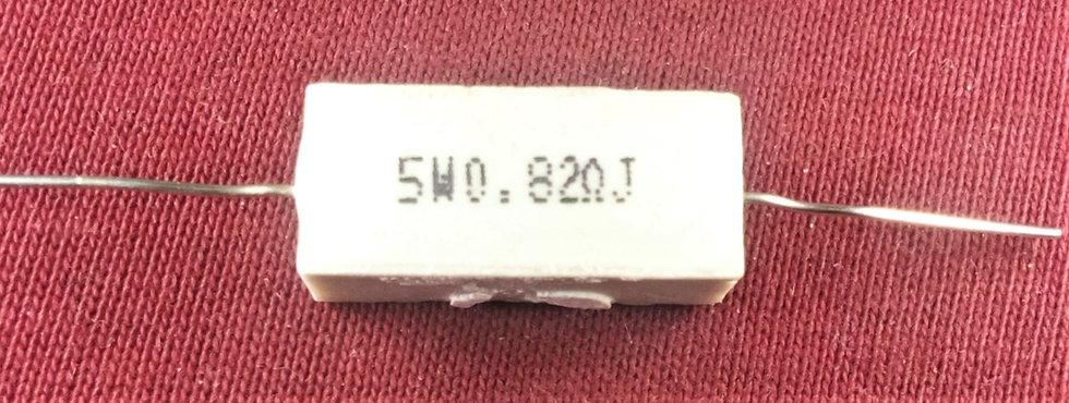 5w 0.82Ω J , 0.82 Ohms 5W