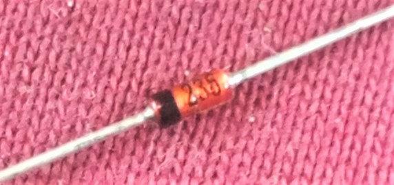 Diodo Zener 7.5v 1/2W 1N5236B