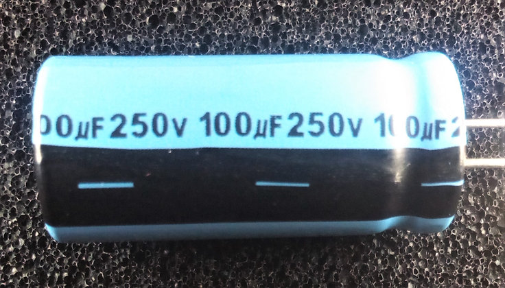 100mF 250V     Azul