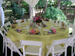 Formal afternoon table set-up