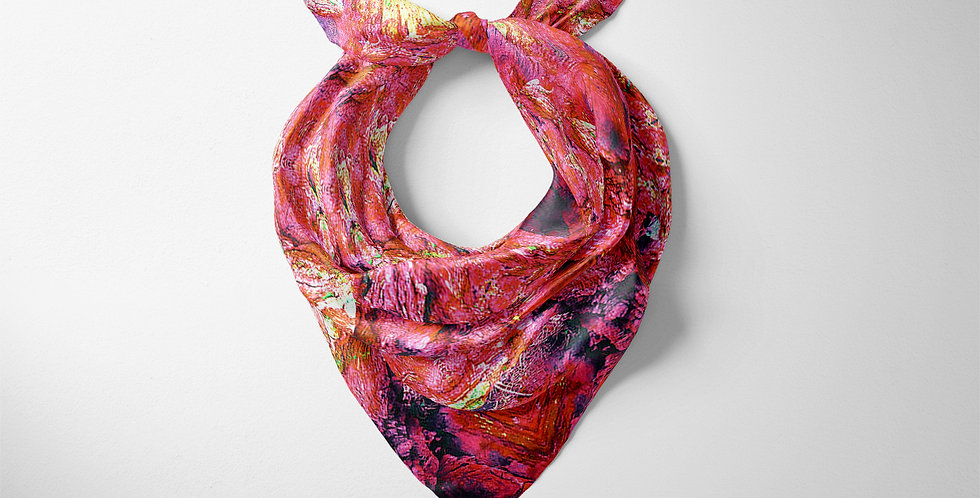 Woodland Opal Square Scarf in Pink
