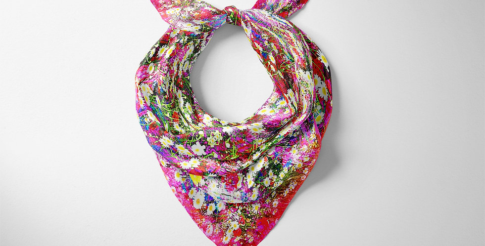 Daisy Pink Modal Classic Square Scarf
