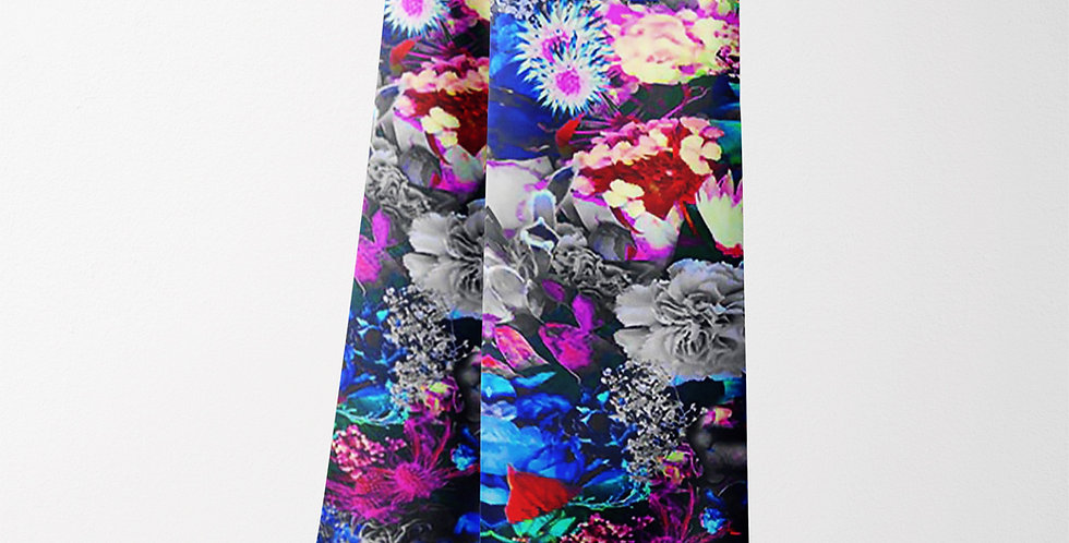 Flower Scarf in a Blue Rectangle